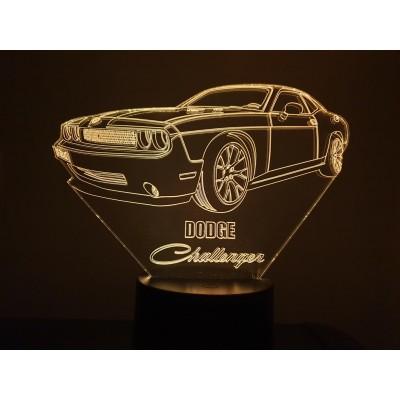 LAMPE 3D - DODGE CHALLENGER -