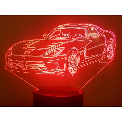 LAMPE 3D - DODGE VIPER -