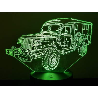 LAMPE 3D - DODGE WC 54 -