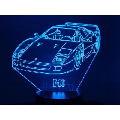 LAMPE 3D - FERRARI F40 -