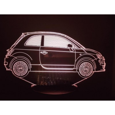 LAMPE 3D - FIAT 500 New -
