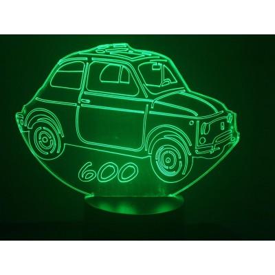 LAMPE 3D - FIAT 600 -