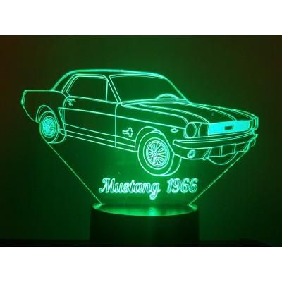 LAMPE 3D - FORD MUSTANG 66 -