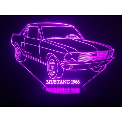 LAMPE 3D - FORD MUSTANG 68 -