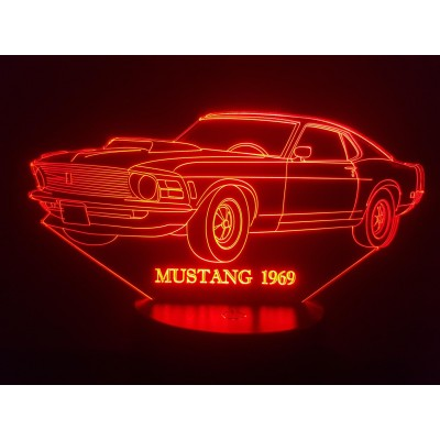 LAMPE 3D - FORD MUSTANG 69 -