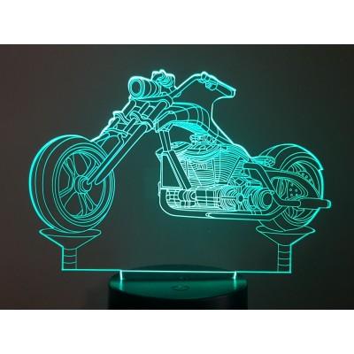 LAMPE 3D - MOTO CHOPPER -