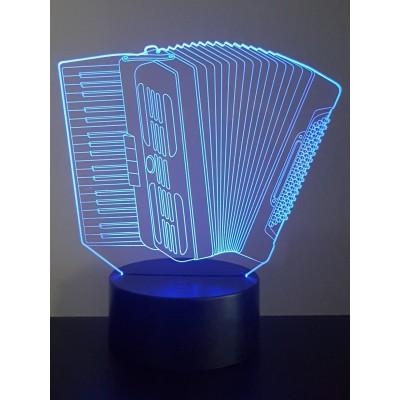 LAMPE 3D - ACCORDEON -