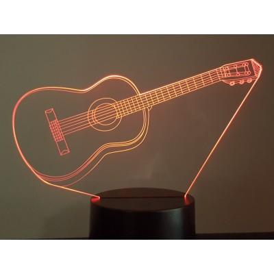 LAMPE 3D - GUITARE -