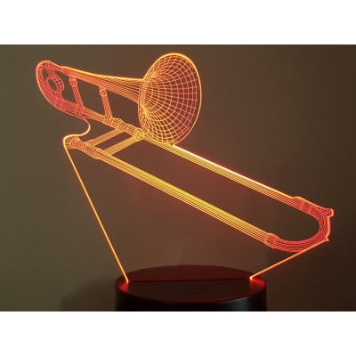 LAMPE 3D - TROMBONE -