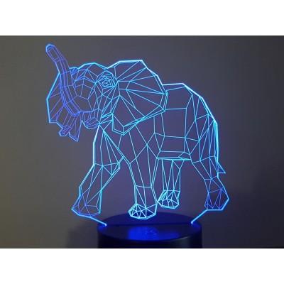 LAMPE 3D - ELEPHANT -