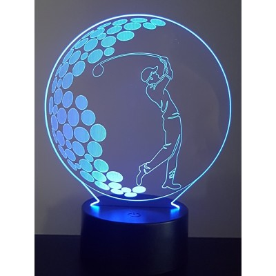 LAMPE 3D - GOLFEUR -