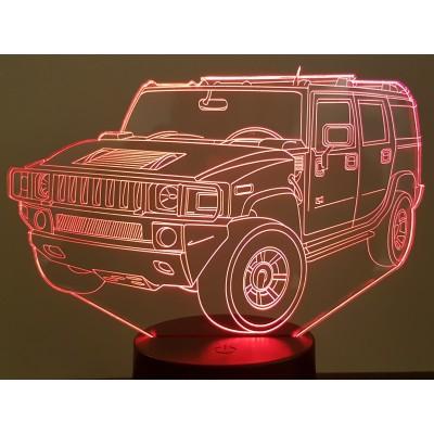 LAMPE 3D - HUMMER H2 -