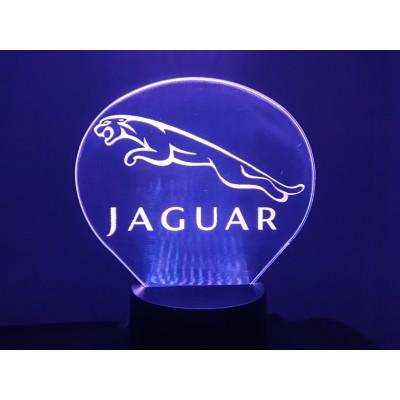 LAMPE 3D - LOGO JAGUAR -