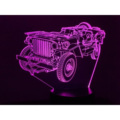 LAMPE 3D - JEEP WILLYS (2) -