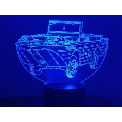 LAMPE 3D - JEEP AMPHIBIE -