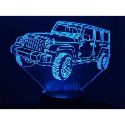 LAMPE 3D - JEEP WRANGLER -