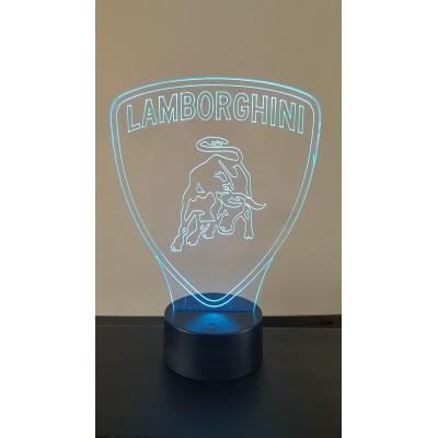 LAMPE 3D - LOGO LAMBORGHINI -