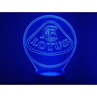 LAMPE 3D - LOGO LOTUS -