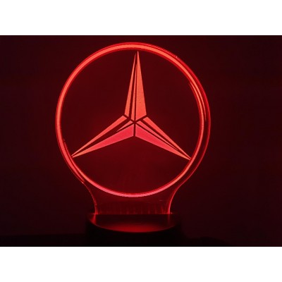 LAMPE 3D - LOGO MERCEDES -