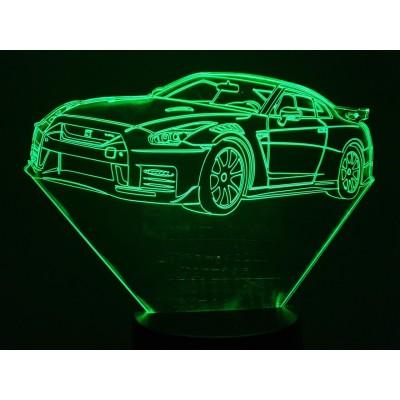 LAMPE 3D - NISSAN GT-R -