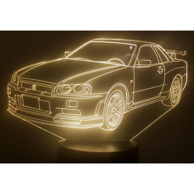 LAMPE 3D - NISSAN GTR R34 -