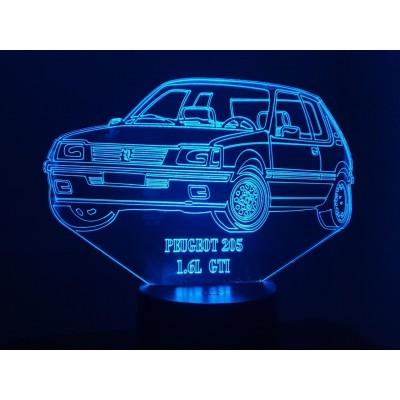 3D LAMPE - PEUGEOT 205 GTI...