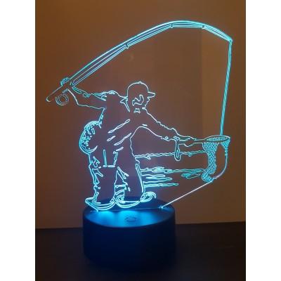 LAMPE 3D - PÊCHEUR A LA...