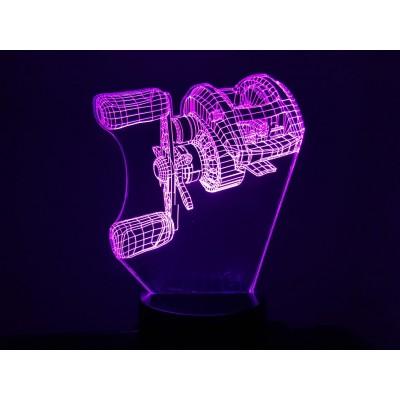 LAMPE 3D - MOULINET 2 -