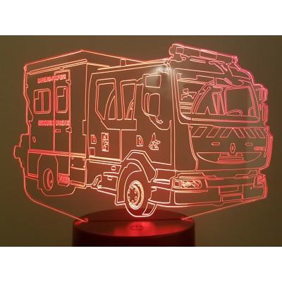 LAMPE 3D - CAMION POMPIER...