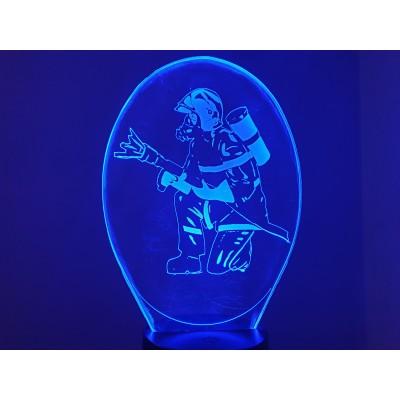 LAMPE 3D -  POMPIER -