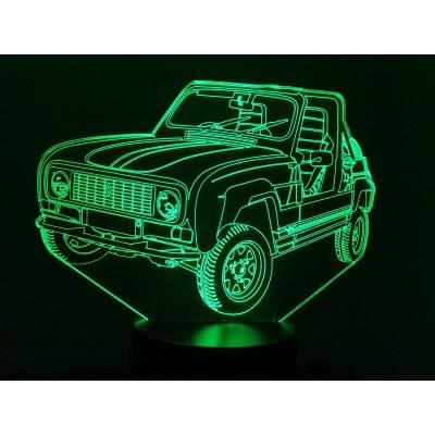 LAMPE 3D - RENAULT 4L  JP4 -