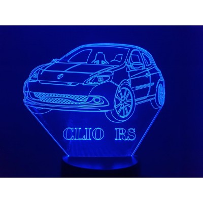 LAMPE 3D - RENAULT CLIO RS -