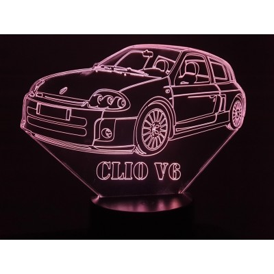 LAMPE 3D - RENAULT  CLIO  V6 -