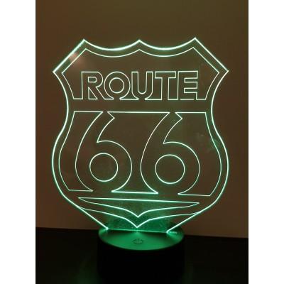 LAMPE 3D - ROUTE 66 -