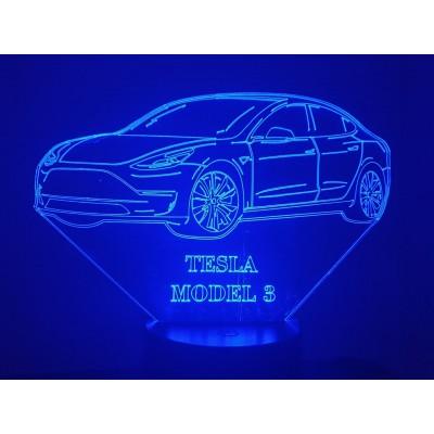 LAMPE 3D - TESLA Model 3 -