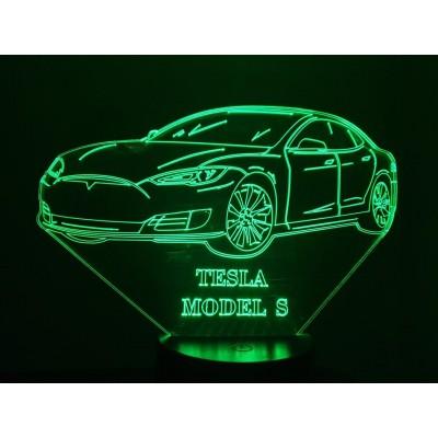LAMPE 3D - TESLA Model S -
