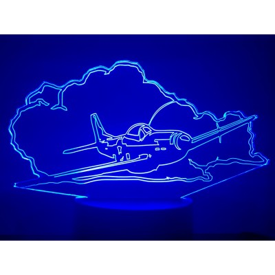 LAMPE 3D - AVION MUSTANG P51-