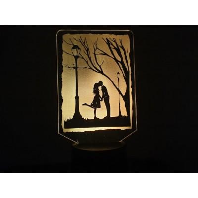 LAMPE 3D - COUPLE D'AMOUREUX -