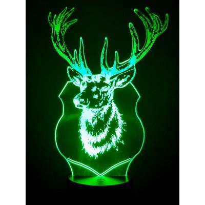 3D LAMP - DEER TROPHY -