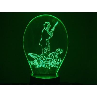 LAMPE 3D - CHASSEUR -