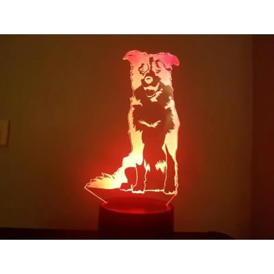 LAMPE 3D - BORDER COLLIE -