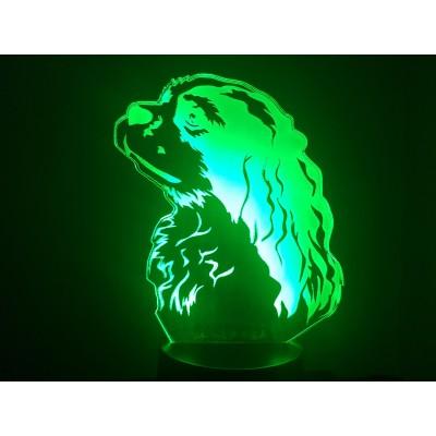 LAMPE 3D - CAVALIER KING...