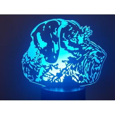 LAMPE 3D - DRAHTHAAR -