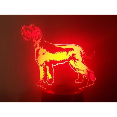 LAMPE 3D - SCHNAUZER -