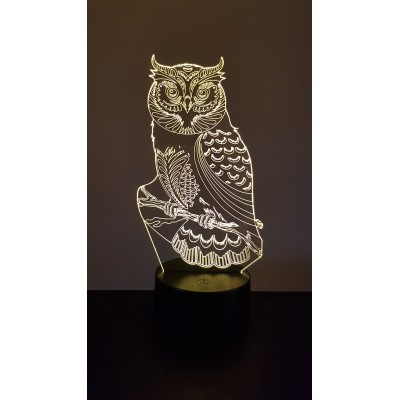 LAMPE 3D - HIBOU - CHOUETTE -