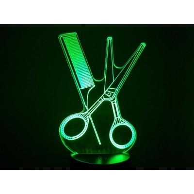 LAMPE 3D - COIFFURE...