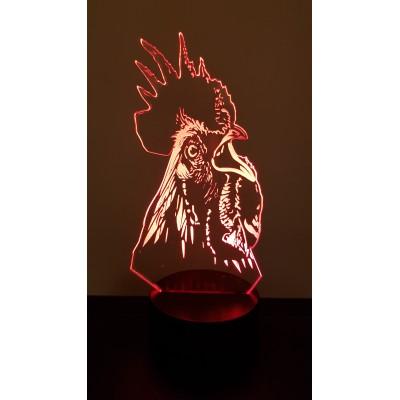 LAMPE 3D - COQ -