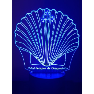 LAMPE 3D - COQUILLE SAINT...