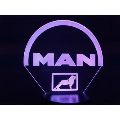 LAMPE 3D - LOGO  MAN -