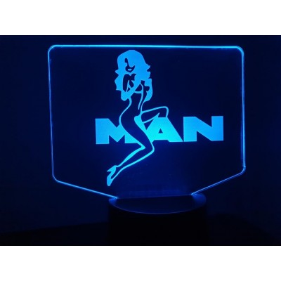 LAMPE 3D - LOGO  MAN + Girl -